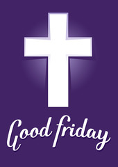 Good Friday With Purple Background