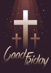 Good Friday With Dark Background