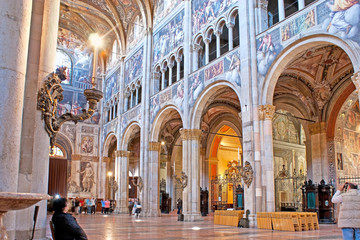 The fescoe in Parma Cathedral