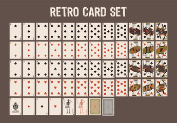 retro card set