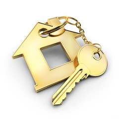 Gold key and home