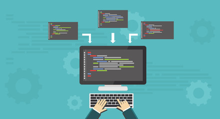 Coding, Programming, Development concept