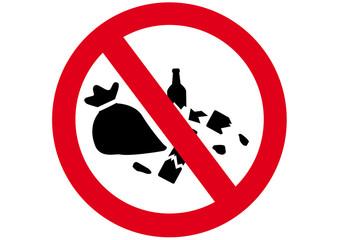 Schild Müllabladen verboten