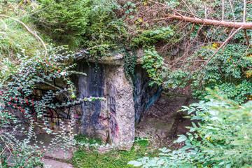 Bunker aus dem Zweiten Weltkrieg in Geretsried Bayern von oben