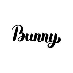 Bunny Handwritten Calligraphy