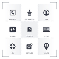 BASIT INTERFACE ICON SET