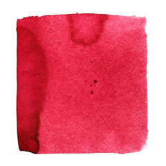 Red watercolor square