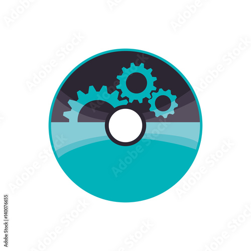 Software Cd Computer Icon Vector Illustration Graphic