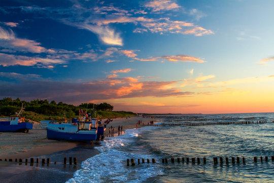 Wieczorem na plaży