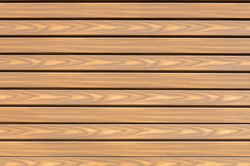 panel of wooden slats close-up