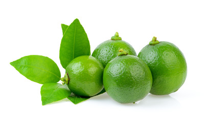 freah lime on white background
