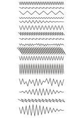 The curves zigzag. Design elements. Set of Vector illustration