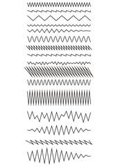 The curves zigzag. Design elements. Set of Vector illustration