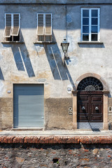 The facade of the house in Italy