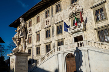 Door stickers Artistic monument Pisa, Tuscany, Italy - The Knights' Square ( Piazza dei Cavalieri )
