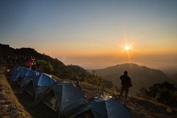 Sunrise at Doi angkhang, Chiang mai Thailand