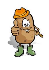 Cartoon Potatoe Farmer