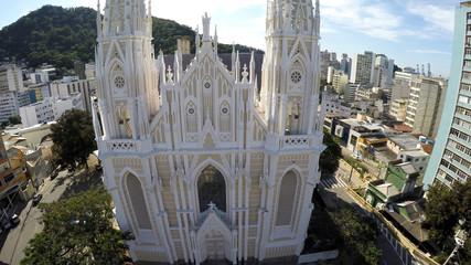 Aerial View of Catedral Metropolitana de Vitoria in Espirito Santo, Brazil