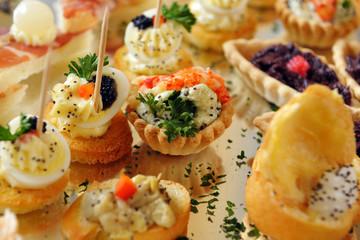 Appetizers. Vol-au-vent. Catering. Buffet.