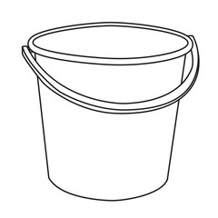 Isolated Cartoon Bucket.