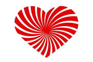 rote Herzspirale