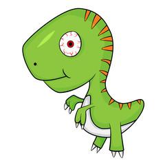 Cute Cartoon of Baby T-Rex Dinosaur