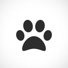 Dog paw vector icon