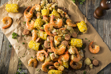 Homemade Traditional Cajun Shrimp Boil