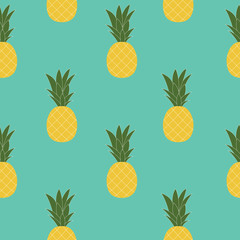 Pineapple Natural Seamless Pattern Background Vector Illustratio