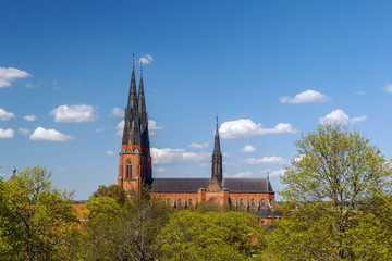 Fototapete - Uppsala Cathedral, Sweden