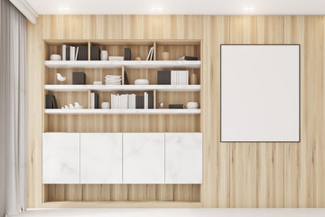 Ligth wooden workplace