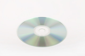 DVD disc isolated on a white background.