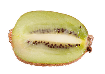 Kiwi with slice pieces on a white background