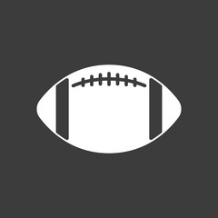 Isolated vector illustration of  an american football balloon