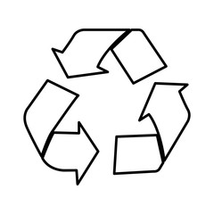 silhouette recycle sign icon, vector illustraction design