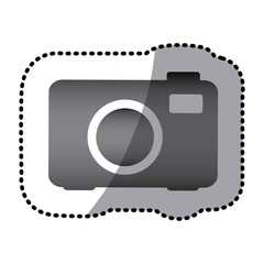 grayscale camera photo icon, vector illustraction design