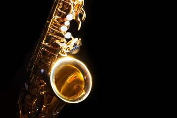 alto saxophone in the dark
