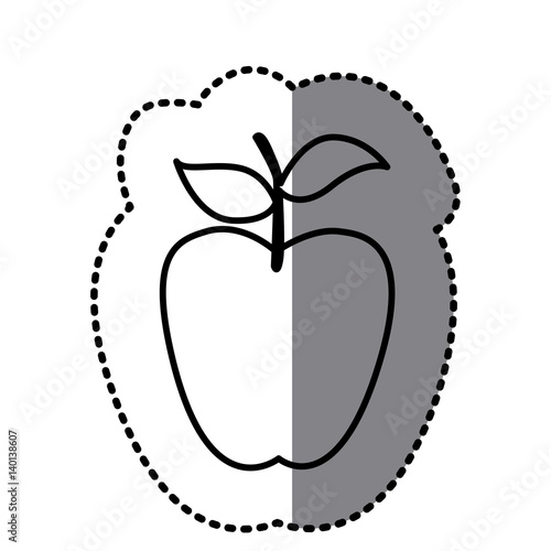 figure long apple fruit icon vector illustraction design fichier vectoriel libre de droits. Black Bedroom Furniture Sets. Home Design Ideas