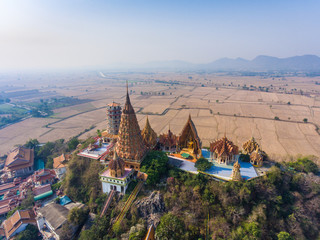 Aerial view of Beautiful Temple on a mountain