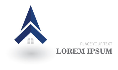 abstract home building logo