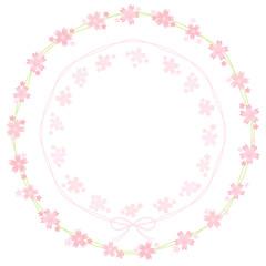 桜のフレーム グリーン リース