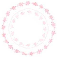 桜のフレーム リース