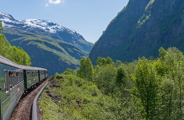 Flamsbana, the famous train line in Norway.