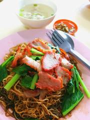Wonton noodles is a Cantonese noodle dish
