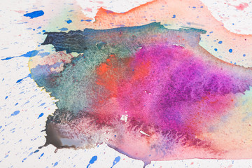 Color and texture of water color on paper