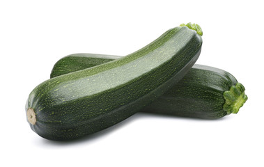 Foto auf Acrylglas Gemuse Green whole zucchini isolated on white background