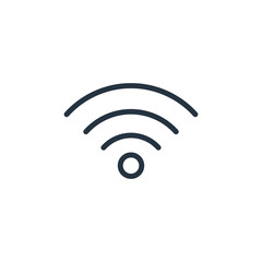 wifi line icon on white background