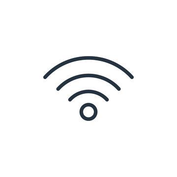 wifi line icon on white background