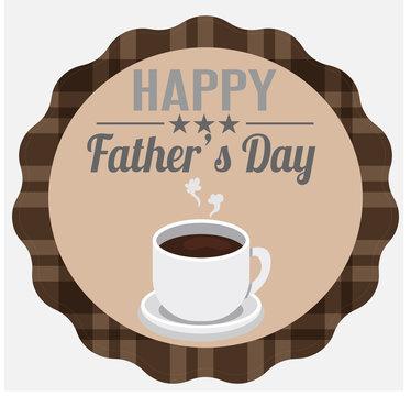 день отца - семейный праздник, наклейка