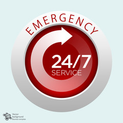 Emergency Service, 24/7, 365 #Vector Graphics